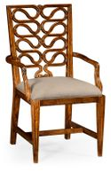 492288-AC-WAL-F001 Jonathan Charles Serpentine open back dining chair (Arm)