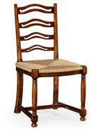 492328-SC-WAL Jonathan Charles Ladder back walnut chair with pierced slats (Side)