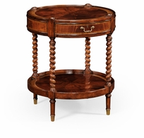 492399-MAH Jonathan Charles Buckingham Regency Style Mahogany Round Side Table