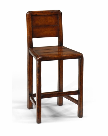492427 Jonathan Charles Special Order Planked Walnut Counter Stool (Side)