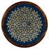492454-MAH-GEB Jonathan Charles Buckingham Lapis Blue Eglomise With Mahogany And Brass Side Table