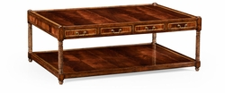492457-MAH Jonathan Charles Buckingham Rectangular Regency Style Mahogany Coffee Table
