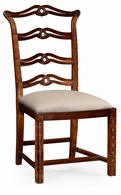 492468-SC-MAH-F001 Jonathan Charles Buckingham Chippendale Style Mahogany Pierced Back Dining Side Chair