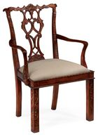 492472-AC-MAH-F001 Jonathan Charles Chippendale style rococo quatrefoil chair (Arm)