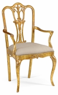 492476-AC-GIL-F001 Jonathan Charles Versailles Gilded 18Th Century Style Dining Chair (Arm)