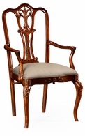 492476-AC-MAH-F001 Jonathan Charles Buckingham Mahogany 18Th Century Style Dining Chair (Arm)