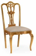 492476-SC-GIL-F001 Jonathan Charles Versailles Gilded 18Th Century Style Dining Chair (Side)