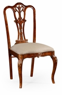492476-SC-MAH-F001 Jonathan Charles Buckingham Mahogany 18Th Century Style Dining Side Chair