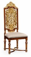492491-WAL-F001 Jonathan Charles Windsor Jacobean Style Gilt Walnut Side Chair