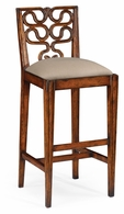 492585-BS-SC-WAL-F001 Jonathan Charles Windsor Serpentine Back Barstool (Side)