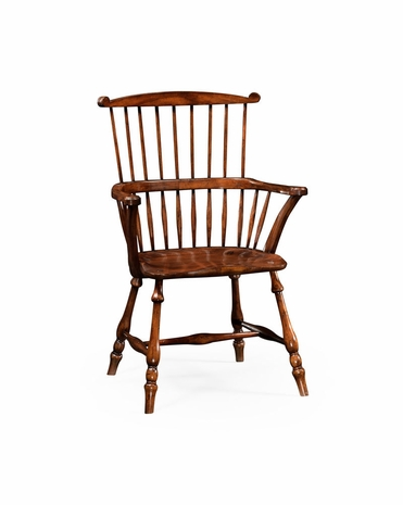 492601 Jonathan Charles Country Farmhouse Windsor Armchair Walnut