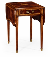 492603-MAH Jonathan Charles Buckingham Regency Mahogany Pembroke Table