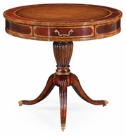 492611-MAH-L005 Jonathan Charles Buckingham Mahogany Drum Table (Red)
