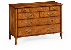492630-SAM Jonathan Charles Clean & Classic Satinwood Large Chest Of Drawers