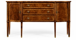 492637-CWM Jonathan Charles Windsor Crotch Walnut Sideboard With Curved Door