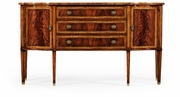 492637-MAH Jonathan Charles Buckingham Mahogany Sideboard With Curved Doors