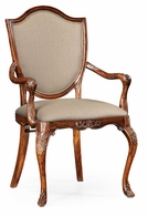 492646-AC-MAH-F001 Jonathan Charles Buckingham Shield Back Mahogany Armchair With Medium Antique Chestnut Leather In Mazo