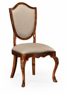 492646-SC-MAH-F001 Jonathan Charles Buckingham Shield Back Mahogany Side Chair With Medium Antique Uhpholstered In Mazo