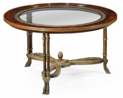 492649-MAH Jonathan Charles Buckingham Napoleon III Coffee Table Brass Base