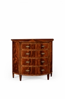 492659-MAH Jonathan Charles Buckingham Mahogany Demilune Chest Drawers
