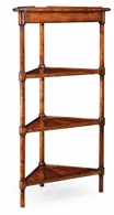 492660 Jonathan Charles Country Farmhouse Parquet Four-Tier Corner Etagere
