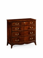 492663-MAH Jonathan Charles Buckingham Mahogany Bow Front Chest Of Drawers Rococo Handles