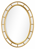 492697-GIL-GPM Jonathan Charles Versailles Oval Panelled Gilded Mirror (Plain Mirror Glass)