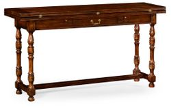 492704-WCD Jonathan Charles Country Farmhouse Small Walnut Hunt Table