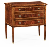 492721-MAH Jonathan Charles Buckingham Mahogany Chest Of Drawers Raised Base