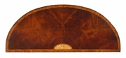 493076-MAH Jonathan Charles Buckingham Crotch Mahogany Demilune Sideboard With Marquetry