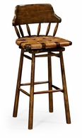 493095-BS-WAL-L002 Jonathan Charles Country Farmhouse Country Style Leather Bar & Counter Stools