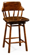 493095-CS-WAL-L002 Jonathan Charles Country Farmhouse Country Style Leather Bar & Counter Stools