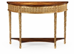 493208-GIL Jonathan Charles Versailles Gilded Console With Shelf (Small)