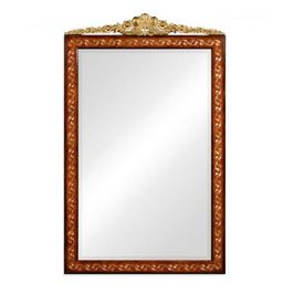 493251-BRW Jonathan Charles Traditional Duchess Collection Louis Xvi Style Inlaid & Gilded Rectangular Mirror