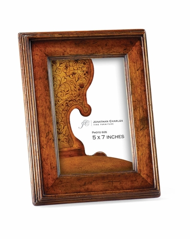 """493310 Jonathan Charles Country Farmhouse Country Walnut Picture Frame (5""""x7"""") Package of Six Only"""