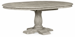 "493457-54D-GYO Jonathan Charles Sherwood Oak 54"" Extending Greyed Oak Country Table"