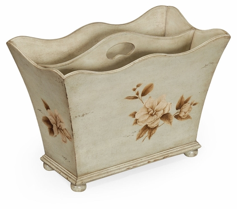 493515 Jonathan Charles Country Farmhouse Painted Floral Canterbury Olive