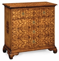 493580-WLL Jonathan Charles Moroccan Walnut Raised Arabesques Chest Of Drawers