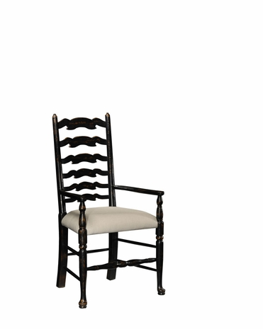 493772 Jonathan Charles Special Order Black Painted Ladder Back Chair (Arm)