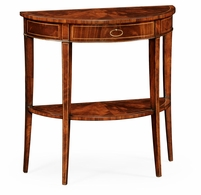 494002-LAM Jonathan Charles Clean & Classic Boxwood Stringing Demilune Console