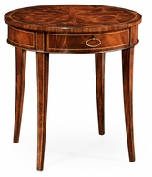 494003-LAM Jonathan Charles Round mahogany side table fine stringing