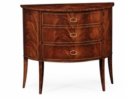 494004-LAM Jonathan Charles Clean & Classic Biedermeier Style Mahogany Demilune Cabinet