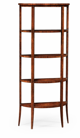494016-LAM Jonathan Charles Clean & Classic Biedermeier Style Five-Tier Etagere (Mahogany)