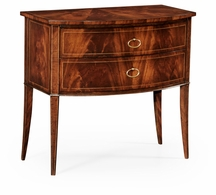 494023-LAM Jonathan Charles Biedermeier style mahogany bow front chest