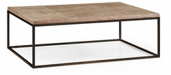 494029-WLW Jonathan Charles Fine Furniture JC Edited - Anvil Limed Oak & Iron Coffee Table