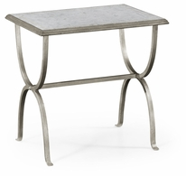 494036-S Jonathan Charles Fine Furniture JC Modern - Luxe Eglomise & Silver Iron Rectangular Side Table