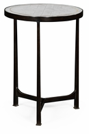494042-B Jonathan Charles Fine Furniture JC Modern - Luxe Eglomise & Bronze Iron Round Lamp Table