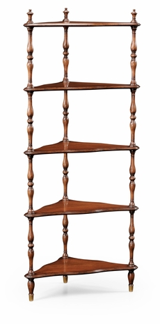 494050 Jonathan Charles Special Order Mahogany Five-Tier Corner étagère