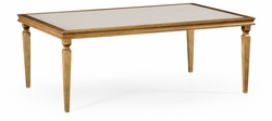 494063-G Jonathan Charles Fine Furniture JC Modern - Luxe Italian Gilded Rectangular Coffee Table