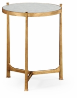 494080-G-GES Jonathan Charles Fine Furniture JC Modern - Luxe Eglomise & Gilded Iron Medium Lamp Table